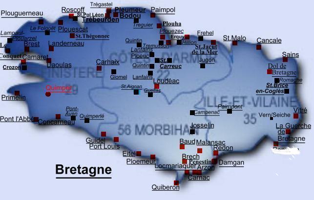Carte Bretagne Gare Sncf.Aires De Vidanges Et De Stationnement En Region De Bretagne